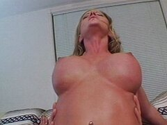 Busty lady has two horny holes