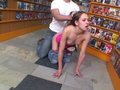 Video store fuck of teenage cunt