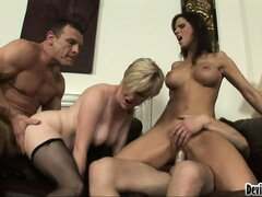 Unforgettable orgy adventure with overly hot harlots with big bristols