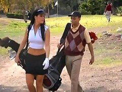 Gorgeous India Summer Fucks Tiger Woods Double