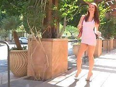 Public Exhibitionism With The Redhead Babe Melody
