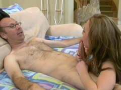 Madison Scott gets sperm of that old fart