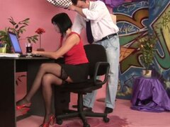 Watersport pissing with office whore renata