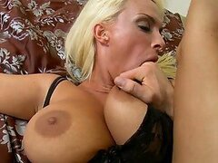 Really Busty Blonde MILF Holly Halston Wants To End The Fun with Anal Sex