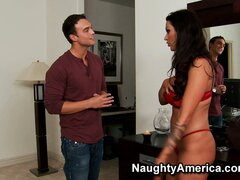 Nikita Denise's roommate accidently walks in on her dressing