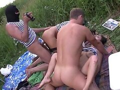 Sex Orgy With Three Kidnapped Hotties And Horny Kidnappers