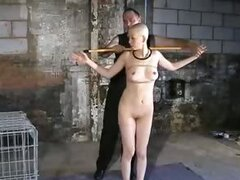 Shaved head slave