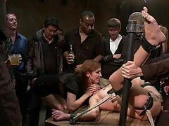 Horny Brunette Loves Big Cocks In BDSM Films