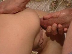 Two horny babe are fucked by hot motherfucker. Great threesome
