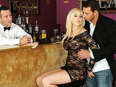 DP Fanatics newcomer Karlie Simon is a true bombshell. Just take a look at how she seduces these two guys in the bar to fuck her tight holes! Her scream of joy fills the area while she's being stuffed in and out simultaneously in her pussy and asshole. Th
