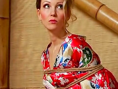 Tied milf with pretty face wants her lovely master to punish her...
