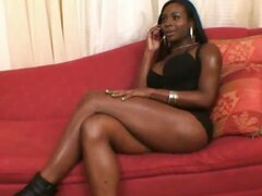 Beautiful black shemale Mercedez makes a booty call for some good dick lovin'.