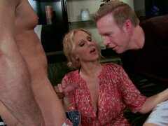 John Strong, Julia Ann and Mark Wood at the nasty threesome