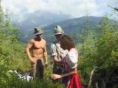 extreme german threesome in nature