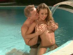 Insanely hot Bianca Arden gets pounded by the pool
