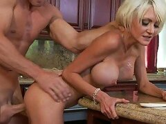 Busty Blonde MILF Torrey Pines Titty Fuck For Cum On Her Big Tits