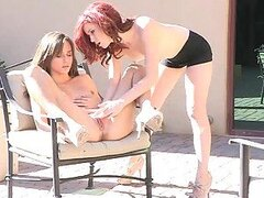 Outdoor Lesbian Scene With the Naughty Teens Elle And Malena