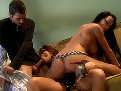 {T}Strapon Action In FFM Threesome With Alektra Blue and Kirsten Price