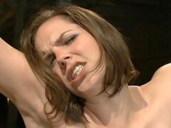 Intense Bondage Pleasure For A Hot Brunette And Her Hairy Pussy