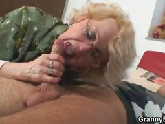 Granny takes big cock from behind
