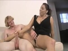 Mom and not her daughter share cock