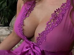 Latino redhead MILF plays with a huge cock. Deep cock penetration