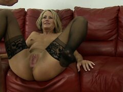 Mature couple and friends creamy end