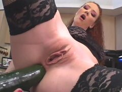 Audrey Hollander fucks her ass with a toy while also enjoying a throbbing cock