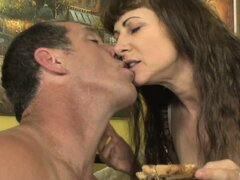 Hairy bitch with delicious cunt bangs the fuck guy