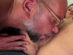 Kinky old young fuck with hot pissing