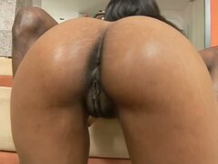 Ebony MILF Kaylani Cream Getting Her Cunt Destroyed by Monster Black Cock