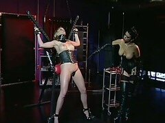 Submissive Lesbian Slut Anna Mills Loves Getting Her Pussy Whipped