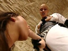 Huge Cock Sluts Julie Silver and Sabina Black Bondage