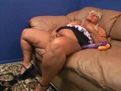 Brenda Grace is a fat granny that loves getting her pussy stuffed
