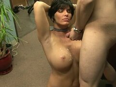 Milf with huge tits loves fucking younger men