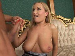 Jessica is so horny she screams for more after he cums