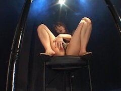 Japanese babe posing in naughty solo