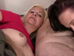 His new girlfriends gets involved into 3some with olds