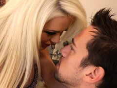 Beautiful blonde with divine tits Alexis Ford is on the prowl for steamy action