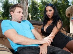 A college dude goes over to his neighbor's house and gets shagged by the MILF there