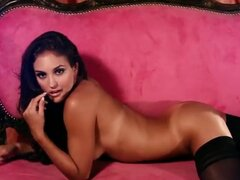 Glamour expensive hottie Jaclyn Swedberg posing in stockings