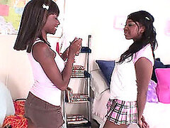 Lesbian Scene With Two Hot Ebony Babes