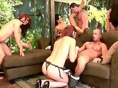 Two horny married couples orgy