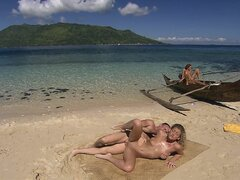 Tropical group sex with Cristina Blond and Lauren May