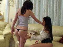 Eve angel and gorgeous babe have lesbian sex