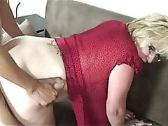 Blonde Granny in Glasses Fucked