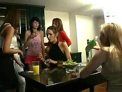 Real party orgy with sexy Russian drunken chicks