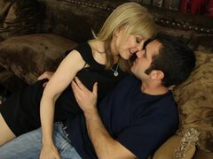Horny Nina Hartley seduces this sexy stiff prick