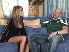 Kristina Cross letting a guy go all the way down into her tight hole