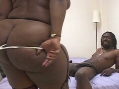 Big beautiful black woman loves big black cock action